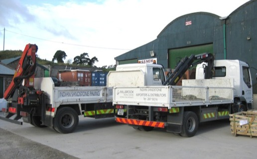 millbrook kiln dried firewood delivery lorries